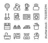 household appliances icons...   Shutterstock .eps vector #701005294
