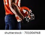 american football sportsman... | Shutterstock . vector #701006968