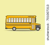 school bus. | Shutterstock .eps vector #701007313
