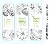 healthy food vertical banner... | Shutterstock .eps vector #701008450