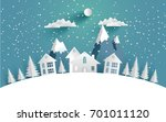 views of the house in winter.... | Shutterstock .eps vector #701011120