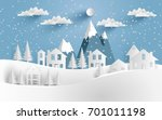 views of the house in winter.... | Shutterstock .eps vector #701011198