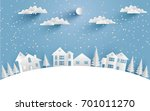 views of the house in winter.... | Shutterstock .eps vector #701011270