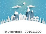 views of the house in winter....   Shutterstock .eps vector #701011300