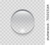 transparent drop of water.... | Shutterstock .eps vector #701015164