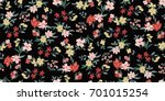 seamless floral pattern in... | Shutterstock .eps vector #701015254