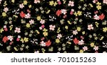 seamless floral pattern in... | Shutterstock .eps vector #701015263