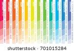 creative wall calendar 2018... | Shutterstock .eps vector #701015284