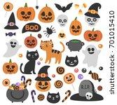 Cute Vector Set With Halloween...