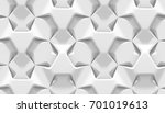 white abstract hexagonal... | Shutterstock . vector #701019613