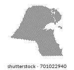 abstract map of kuwait dots... | Shutterstock .eps vector #701022940