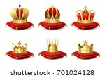 heraldic royal crowns on... | Shutterstock .eps vector #701024128