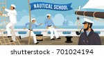 nautical school on board... | Shutterstock .eps vector #701024194