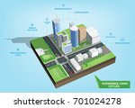 sustainable city life | Shutterstock .eps vector #701024278