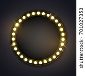 round frame with glowing shiny... | Shutterstock .eps vector #701027353