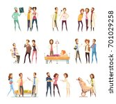 nurse cartoon characters... | Shutterstock .eps vector #701029258