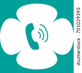 handset icon | Shutterstock .eps vector #701029393