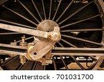 detail of steam locomotive... | Shutterstock . vector #701031700