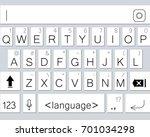 modern smartphone keyboard of...