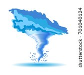 colored tornado isolated on... | Shutterstock .eps vector #701040124
