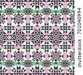 vector seamless ethnic pattern. ... | Shutterstock .eps vector #701040994