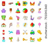 nurse for child icons set.... | Shutterstock .eps vector #701041360