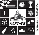 karting infographic in black...