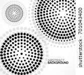 abstract background with dotted ... | Shutterstock .eps vector #701043400
