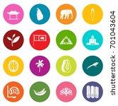 sri lanka travel icons many...   Shutterstock .eps vector #701043604