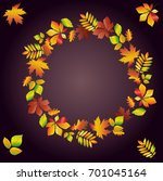 round frame of multi colored... | Shutterstock .eps vector #701045164