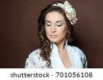 closeup portrait of beautiful... | Shutterstock . vector #701056108
