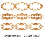gold ornament on a white...   Shutterstock . vector #701057860