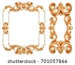 gold frame on a white... | Shutterstock . vector #701057866
