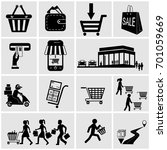 shop  supermarket vector icons... | Shutterstock .eps vector #701059669