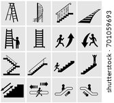 stairs of types   straight ... | Shutterstock .eps vector #701059693
