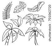 vector contour illustration of... | Shutterstock .eps vector #701062720