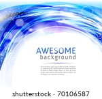 abstract blue and white background - stock vector