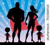 square banner of superhero... | Shutterstock .eps vector #701068510