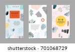 set of creative headers. art... | Shutterstock .eps vector #701068729