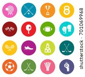 sport equipment icons many... | Shutterstock .eps vector #701069968