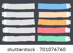 colorful and white ripped  note ... | Shutterstock .eps vector #701076760