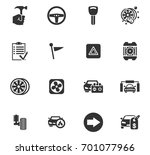 auto icons set and symbols for... | Shutterstock .eps vector #701077966