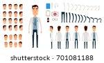doctor character creation set.... | Shutterstock . vector #701081188