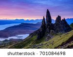 the old man of storr at dawn ... | Shutterstock . vector #701084698