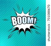 comic boom wording template... | Shutterstock .eps vector #701088670