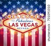 vector las vegas sign on...   Shutterstock .eps vector #701091010