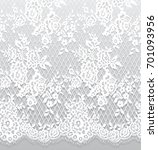 seamless vector white lace... | Shutterstock .eps vector #701093956