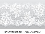 seamless vector white lace...   Shutterstock .eps vector #701093980