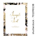 abstract gold frame. template... | Shutterstock .eps vector #701098138