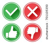 set red and green icons buttons.... | Shutterstock .eps vector #701105350